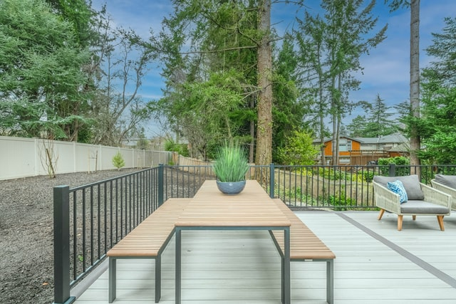 deck and fence